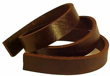 """One 8-10oz BROWN BUFFALO LEATHER Strip for Belts Straps 1/4-3"""" wide 12-60"""" long"""