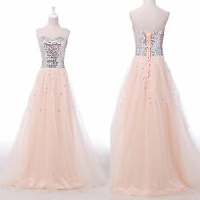 Unique Stylish Sequins Bridesmaid Long Wedding Gowns Prom Party Evening Dresses
