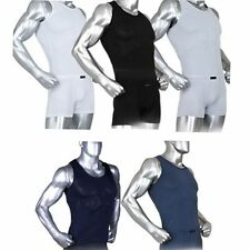 Mens Compression Under Base Layer Tank Top Tights Armour Sleeveless Shirts RM