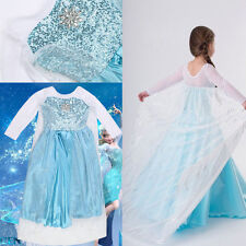 Disney Frozen Princess Elsa Dress Up Halloween Gown Costume Size 3-8Y New W Tags