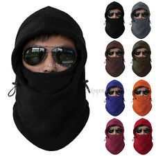 Fleece Thermal Balaclava Ski Motorcycle Neck Face Mask Hood Hat Helmet Cap