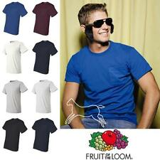 Fruit of the Loom Men's Best 50/50 T-Shirt with Left Chest Pocket S-3XL 5930PR