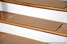 Dean Peel and Stick Carpet Stair Treads - Golden Camel  (13) Runner Rugs