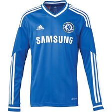 Official Kids adidas Chelsea Home Shirt 2013 - 2014 Long Sleeve, Ages: 7-16 Yrs