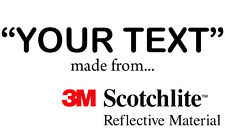3M Scotchlite Reflective Lettering - Va Fonts, Sizes & Colours (inc Black) words