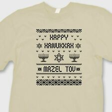 Happy Hanukkah Mazel Tov T-shirt Funny Jewish Ugly Sweater Tee Shirt