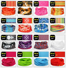 Head/Face/Mask/Neck Multi-wear Tube Bandanas SPF5 Scarf Wrap Hood Cap Stretchy