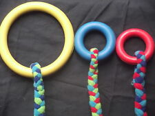 Fleece Tug Tuggy Dog Toy Rubber Ring HoopTraining Obedience Agility Flyball