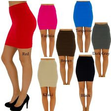 Bandage Fitted Line Soft Bodycon Knitted Casual Party Pencil Mini Short Skirt