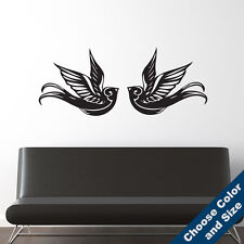 Vintage Sparrows Wall Decal - Bird Sticker