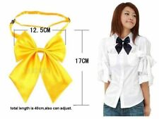 NEW 26 Colors Girl Sailor School Pre-tied Satin Thin Wed Bowtie Bow Neck Tie