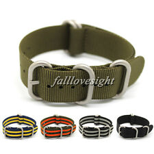 New 20 22 mm Multicolor Nylon Watch Band Army Divers Sports Replacement Strap
