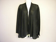 New Ladies M*S Black Long Sleeved Wrapover Cardigan Size 10 12 14 16 18 20 (DY)