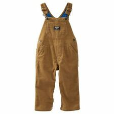 New OshKosh Boy Jersey Blue Lined Brown Corduroy Overalls NWT 24m 2t 3t 4t 5t