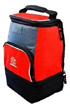 Insulated Lunch Bag with Cushion Handle,and Bottom Food Compartment