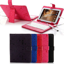 "Universal PU Leather Case USB Keyboard  for 7"" inch Android Tablet PC MID"