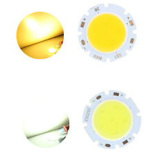 3W Round COB Super Bright LED Chip Lamp Bulb 300Lm Cold/Warm White Light 9V-12V