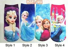 Multi-color Children's Beautiful Polyester Sock Frozen Cartoon Elsa/Anna Printed