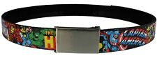 Marvel The Avengers Characters Stacked Web Black Belt
