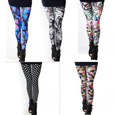 Women Lady's New Stylish Punk Sexy Stretchy Leggings Tight Pencil Skinny Pan  LT