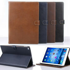 Luxury Real Leather Retro Smart Stand Case Cover for Apple ipad Air 2 ipad 6 6th