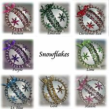*New* Christmas Ornament Sequin Bead Kit Snowflakes Metallic Retro Many Colors
