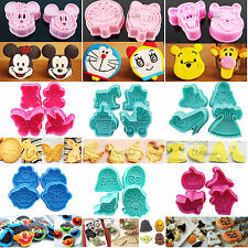 New Fondant Cake Cookie Plunger Cutter Sets Biscuit Sugarcraft Decorating Molds