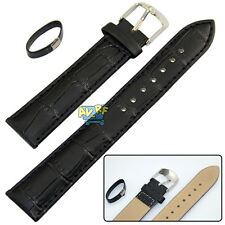 12-22MM Leather Strap Steel Buckle Men's Sport Wrist Watch Band Belt Black New