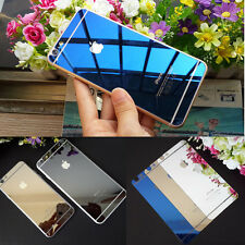 Electroplating Mirror Effect Back Tempered Glass Screen Protector For iPhone 6