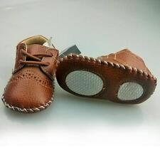 0-12M Girls Boys PU Leather Loafers Toddler Shoes Baby Soft Sole Crib Shoes A84