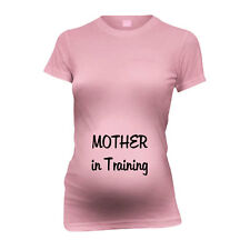 Mother In Training New Mom Funny Maternity T-Shirt Tee Shirt Top Baby Shower Gi