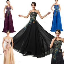 XMAS Victorian Vintage Peacock Long Prom Masquerade Cocktail Evening Debut Dress