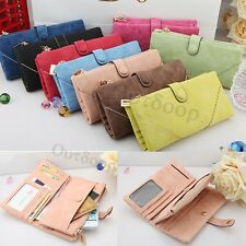 New Fashion Lady Women's Leather Wallet Button Clutch Purse Long Handbag Bag
