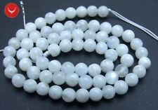 "Genuine 6mm Round Natural High quality MoonStone gemstone Beads 15"" strand-lo600"