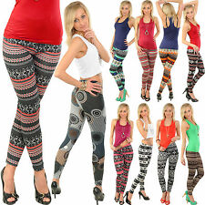 Winter LEGGINS Hose NORWEGER Rentier Aztec Leggings Jeggings Jeansleggins Herbst