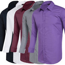 Stylish Designer Men Long sleeve Slim Fit Shirt Tops Casual Formal Dress Shirts