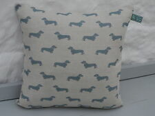 EMILY BOND Dachshund Dog (BLUE) Cushion Cover  (various options)