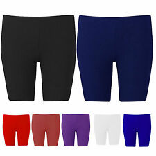 Girls Ladies Womens Kids Lycra Shiny Shorts Cycle Dance Gym Running Gymnastics