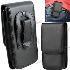 PU Leather Magnetic Flip Belt Clip Hip Case Pouch Holster Various Mobile Phones