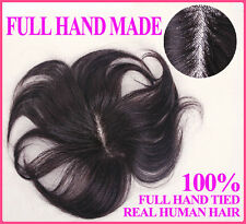 FULL HAND MADE Hair piece toupee hairpiece 100% real natural human hair unisex Z