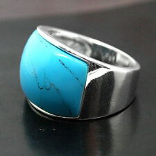 925 Sterling Silver Jewelry Ring With Blue Turquoise Sz 7/8/9/10
