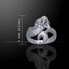 Meticulously crafted Mermaid Wrap Ring - Size Selectable - .925 sterling silver