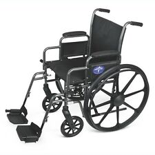 "Medline Excel K3 Wheelchair Folding Wheel Chair 18"", Choice of Footrests!"