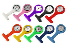 Portable Pocket Watch Silicone Brooch Nurse Watch Multicolor 10 Colors