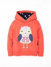 MINI BODEN GIRLS APPLIQUE HOODY BRIGHT CORAL OWN,ALL SIZES!SHIP WORLDWIDE!