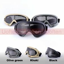 Hunting Airsoft Tactical MOLLE Eye Protection Metal Mesh Pinhole Glasses Goggles