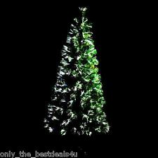 3FT 5ft 6ft 7ft  GREEN LED FIBRE OPTIC CHRISTMAS TREE COLOUR CHANGING