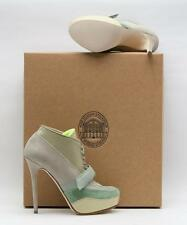 NEW! $750 ACNE TAUPE MULTI COLORED ANKLE BOOT