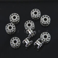25PC Plastic Metal Eempty Bobbins For BROTHER JANOME SINGER Sewing Machines NEW