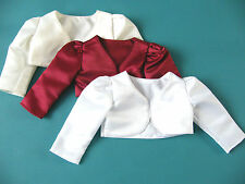 NEW Girls Satin Bolero Shrug - Wedding Bridesmaid Christening Jacket - 6m - 8yrs